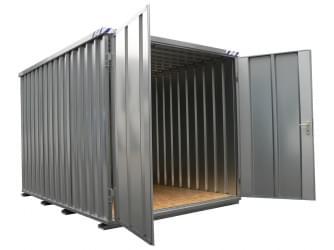 Materiaalcontainer BOS 5x2M Kopzijde Gemonteerd