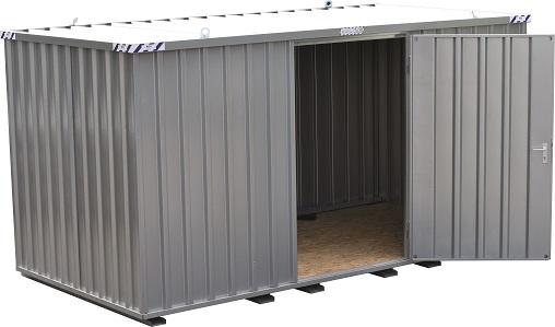 Materiaalcontainer BOS 3x2M Langszijde Gemonteerd